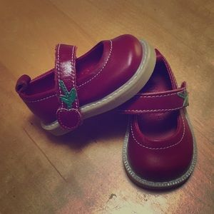 Cute red Mary Janes
